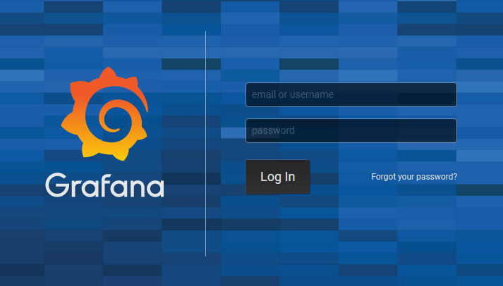 Grafana Login Screen