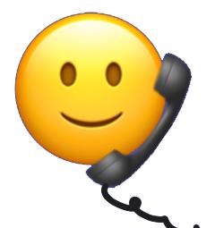 Smiley mit Telefonhöhrer